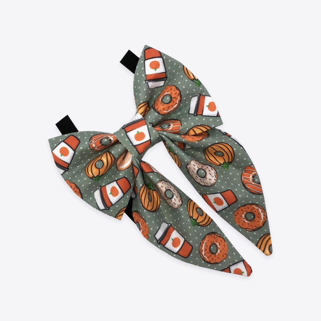 Coffee and autumn donuts sailor bow